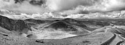 Pano Photos - Snowdonia panorama in Black and White by Jane Rix