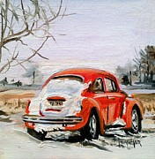 Vw Beetle Originals - Snowed In by Spencer Meagher