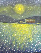 Snowfall Paintings - Snowfall County Wicklow  by John  Nolan