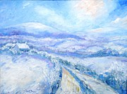 Snowfall Paintings - Snowfall On the Laneway  by Trudi Doyle