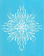 Pinstripes Paintings - Snowflake by DeWayne Connot