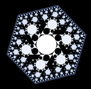 Shrooms Digital Art - Snowflake Fractal 1 by Chris Tetreault