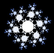 Shrooms Digital Art - Snowflake Fractal 2 by Chris Tetreault
