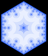 Shrooms Digital Art - Snowflake Fractal 3 by Chris Tetreault
