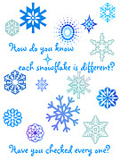 Snowflakes Print by Methune Hively
