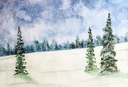 Christmas Trees Digital Art - Snowing in Christmas by Nirdesha Munasinghe