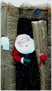 Gail Matthews - Snowing on Santa in outhouse