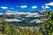Merced County Mixed Media Prints - Snowline in Yosemite National Park Print by Bob Johnston