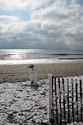 Beach Photograph Posters - Snowman At the Beach Poster by Vickie Wright