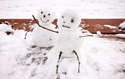 Snowman Photos - Snowman Couple by Charline Xia