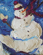 Paris Wyatt Llanso Prints - Snowman II Print by Paris Wyatt Llanso