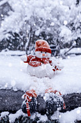 Snowstorm Photos - Snowman by Joana Kruse