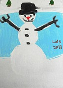 Autism Art Posters - Snowman Let it snow Poster by Epic Luis Art
