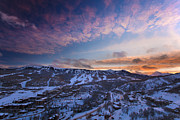 Ski Village Framed Prints - Snowmass Village Sunset  Framed Print by Tom Cuccio