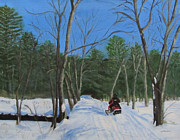 Linda Feinberg - Snowmobile on Trail