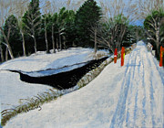 Linda Feinberg - Snowmobile Trail at...