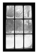 Snow Drifts Framed Prints - Snowstorm Outside The Windowpanes Framed Print by Patricia Sundik