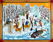 Snow-covered Landscape Originals - Snowwhites last journey by Barbara Sala