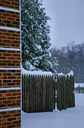 Winter Storm Photos - Snowy Corner by Steven Ainsworth