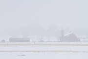 Barns Photos - Snowy Country View by James Bo Insogna