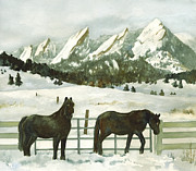 Winter Scene Paintings - Snowy Day by Anne Gifford