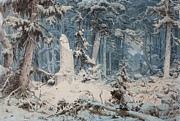 Famous Artists - Snowy Forest by Andreas Achenbach