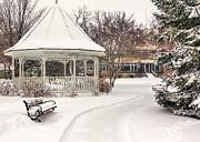 Kari Yearous - Snowy Gazebo at Windom...