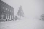Christmas Cards Photo Prints - Snowy Ghost Town Print by Darren  White