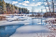 Lake Massabesic Photos - Snowy Lake in NH by Natalie Rotman Cote