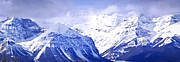 Snowy Landscape Framed Prints - Snowy mountains Framed Print by Elena Elisseeva