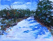 Cedars Paintings - Snowy Path by Carol Berning