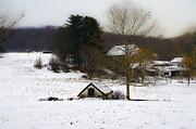 Snowy Pennsylvania Farm Print by Bill Cannon