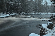Zach Edlund Prints - Snowy Rapids Print by Zach Edlund