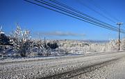 Snowy Roads Print by Michael Mooney