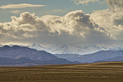 Snow-covered Landscape Metal Prints - Snowy Rocky Mountains County View Metal Print by James Bo Insogna