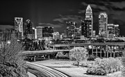 Charlotte Skyline Framed Prints - Snowy South Framed Print by Brian Young