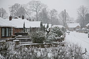 Mark Severn Metal Prints - Snowy Street Metal Print by Mark Severn