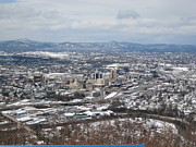 Winter Roads Photo Originals - Snowy Valley Metropolis by Melissa McCrann