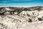 Back Country Prints - Snowy View Print by Robert Bales