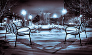 Benches Photos - Snowy Wells Median Vs by Vincent Buckley