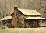 Paul Lyndon Phillips Posters - Snowy Winter Cabin - c5466f Poster by Paul Lyndon Phillips