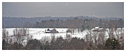 White Pine Posters - Snowy Winter Farmscape Poster by John Stephens