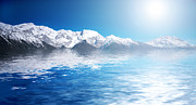 Frozen Art - Snowy winter mountains. Abstact water by Michal Bednarek