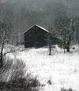 Dantzler Photo Art For Sale Framed Prints - Snowy Winter Scene Framed Print by Andrew Govan Dantzler
