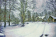 Winter Scene Digital Art Prints - Snowy Winters Day Print by Barry Jones