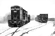 Brakeman Photos - Snowy Yard by Mike Flynn