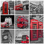 Double Decker Posters - So british Poster by Delphimages Photo Creations