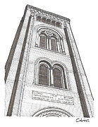 Icons Drawings Originals - So Cal Bovard Auditorium by Calvin Durham