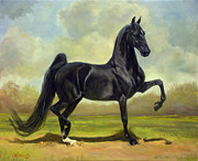 Saddlebred Posters - So Curious American Saddlebred Mare Poster by Jeanne Newton Schoborg