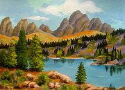 Serenity Scenes Landscapes Paintings - So.  FORK  PASS by Shasta Eone